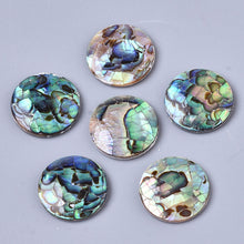 Load image into Gallery viewer, Abalone Shell Cabochons Freshwater Shell  16mm 1pc in a pack