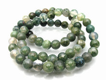 Load image into Gallery viewer, Moss Agate Natural Gemstone Round Bead Strand 10-229