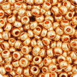Load image into Gallery viewer, Czech Seedbead 11/0 Gold  Metallic Metallic approx 23g