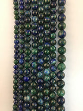 Load image into Gallery viewer, Azurite Malachite Natural Round Beads #10-124