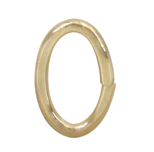 14K Gold Filled Oval Jump Ring 7.6x4.9mm 3pcs
