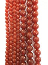 Load image into Gallery viewer, Brazilian Carnelian Agate Natural Bead Strand #10-100