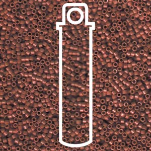 Delica Seed Bead 11/0 RD Brown Currant Opaque 1134V