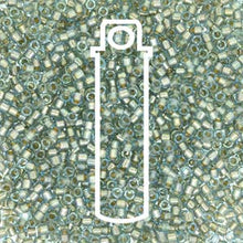 Load image into Gallery viewer, Delica Seed Beads 11/0 RD Fancy Lined Light Teal Silver 2379V