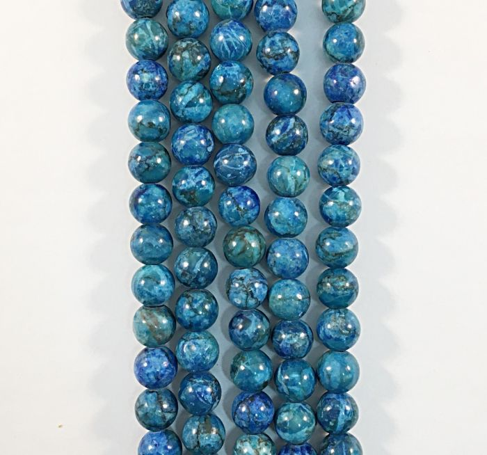 Howlite Blue Natural Gemstone Bead Strand (DYED) #10-153BL