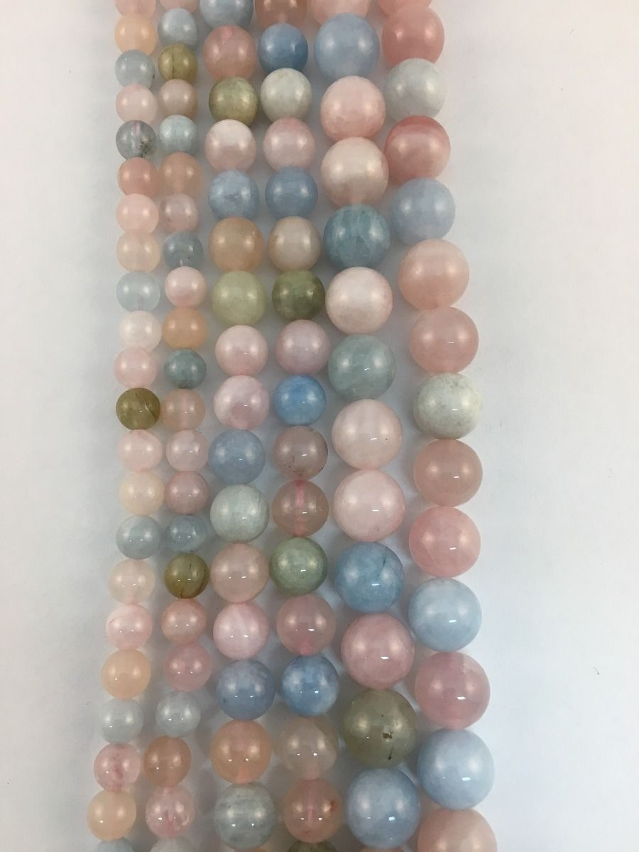Morganite Natural Gemstone Bead Strand #10-125