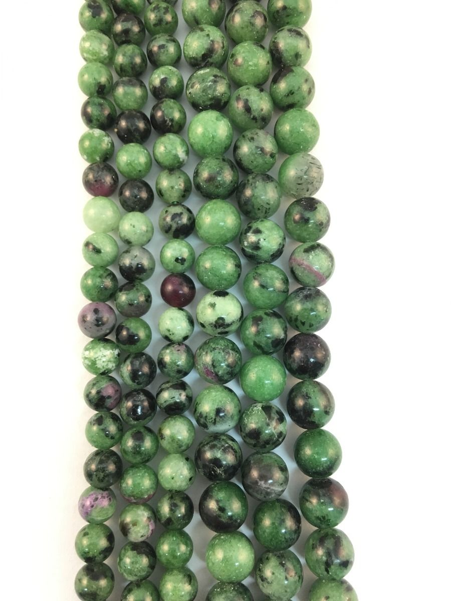Ruby Zoisite Natural Round Beads 10-122