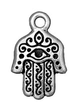 Load image into Gallery viewer, Tierracast Hamsa Charm 21x13mm