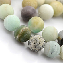 Load image into Gallery viewer, Amazonite Matte Frosted Natural Stone Beads #10-52