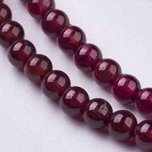 Load image into Gallery viewer, Garnet Natural Gemstone Bead Strand #10-29