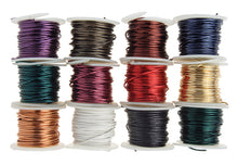 Load image into Gallery viewer, ARTISTIC WIRE, 22 GAUGE (.64 MM), BUY-THE-DOZEN, ASSORTED COLORS, 5 YD (4.5 M) EACH, 12 SPOOLS