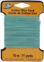 Load image into Gallery viewer, COTTON WAX CORD 1.5mm ROUND  5HEADERSx10MTR=50MTR SEA BLUE