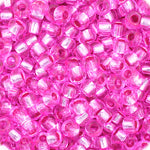 Load image into Gallery viewer, Czech Seedbead 11/0 Fuchsia  Silverlined Dyed approx 23g