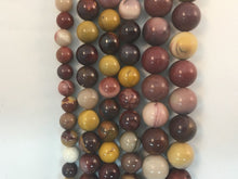 Load image into Gallery viewer, Mookaite Natural Gemstone Bead Strand #10-80