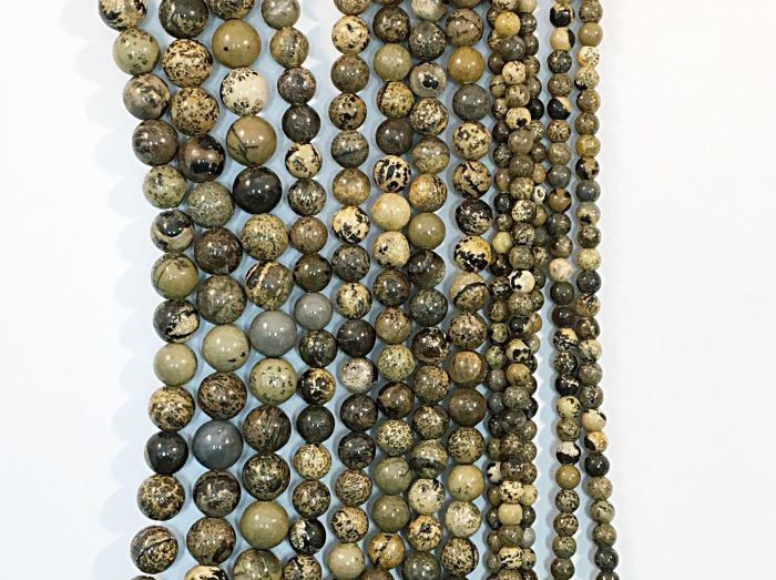 Artic Jasper Round Natural Gemstone Bead Strand #10-161