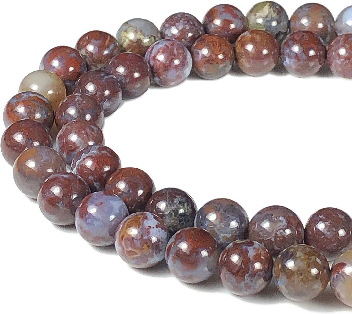 Mexican Lightning Agate Natural Gemstone Bead Strand #10-241