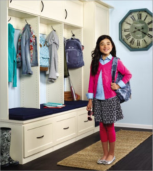 Back to school can cause a flurry of activity everywhere in the house, especially at the entryway