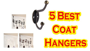 5 Best Coat Hangers #5 2Pcs stainless steel Door Hooks Hanging Hanger Holder for Hanging Coat Cloth