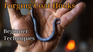 blacksmith #blacksmithing #coathooks Colonial forged coat hooks are an excellent training device for the beginner blacksmith