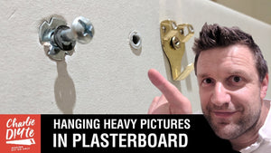 In today's video I run through the best options for hanging a heavy picture on a plasterboard wall