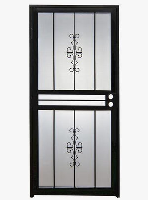 Sympathetic Black Screen Door