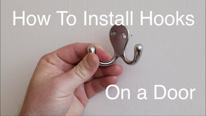 I show you how I install hooks on the back of a bedroom door.