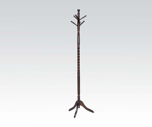 Acme Grady Espresso Finish Solid Wood Coat Rack