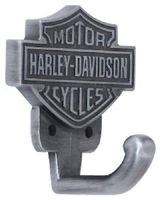 (25) Ace HDL-10100 Harley Davidson Pewter Finish Bar & Shield Design Coat Hooks