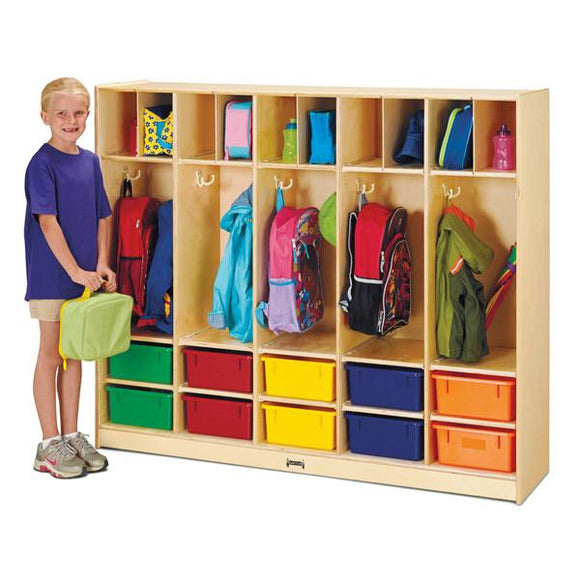 #1047 Jonti-Craft¨ Large Locker Organizer with 10 Colored Tubs