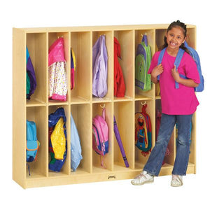 #1051 Jonti-Craft¨ Twin Trim Lockers - 16 Sections