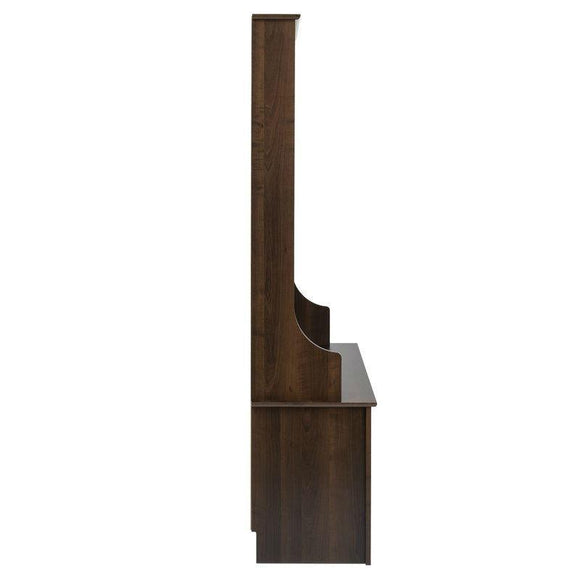 Dark Brown Entryway Hall Tree Shoe Cubbie Coat Rack
