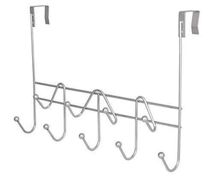 Artishook Hooks Over the Door Hook Organizer Rack Hanging Towel Rack Over Door, 9 Hooks