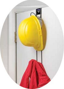 "Horizon 5008 Heavy-Duty Steel 2-Hook Over The Door Hard Hat/Coat/Purse Rack, 3"" Width x 18-3/4"" Height x 6-1/2"" Depth"