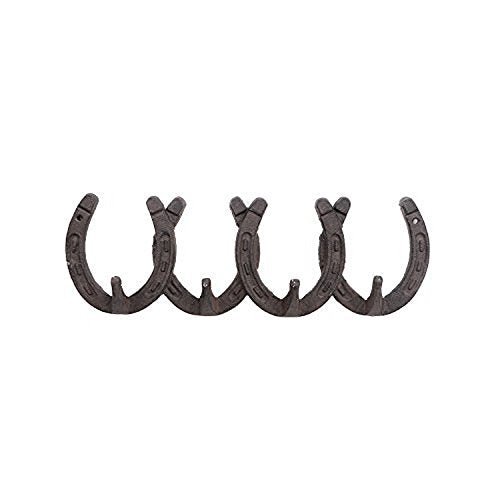 DEI Western Horseshoe Cast Iron Four Hook Wall Rack