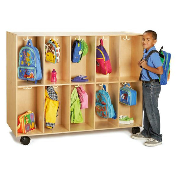 #1219 Jonti-Craft¨ 20 Section Mobile Backpack Cubbie