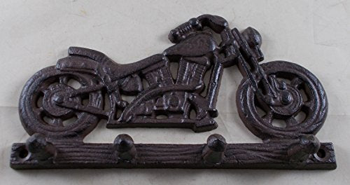 Cast Iron Motorcycle Themed Hook Rack