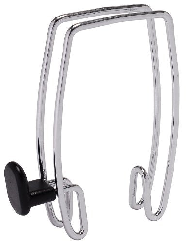 Alba Over-the-Panel Coat Hook, One-Sided, Chrome and Black (PMHOOK1)