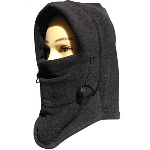 FUYI Women's Windbreak Warm Fleece Neck Hat Winter Ski Full Face Mask Cover Cap