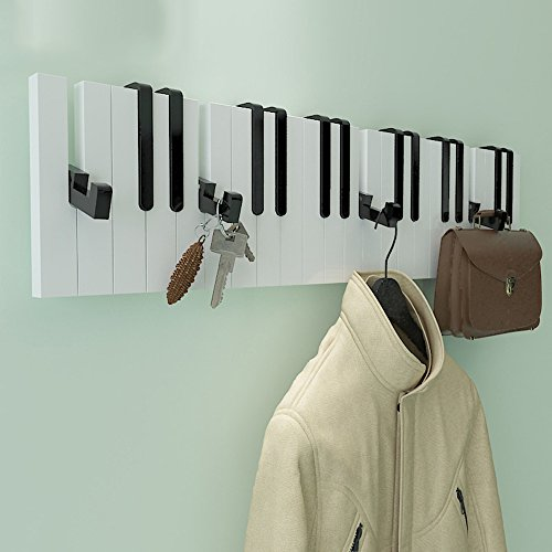 COAT RACK ZHIRONG Coat Hooks 16 Hooks Piano Shelves 5914.5CM (Color : B)