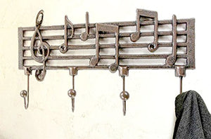 Cast Iron Music Note Wall Hook