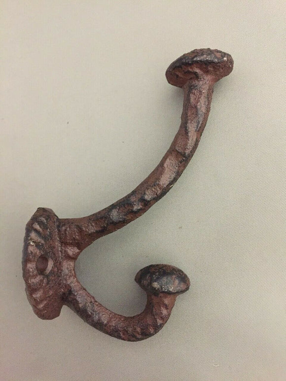 2 Pack Vintage Style Cast Iron Wall Coat Hooks Hat Hook Hall Tree