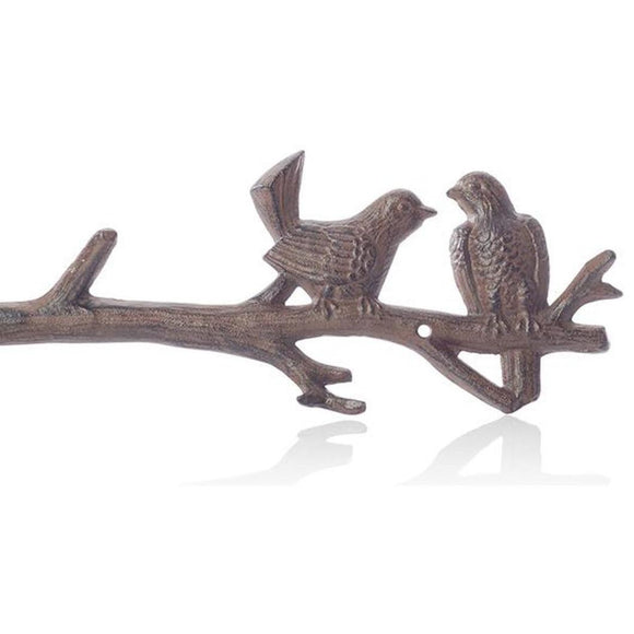 Cast Iron Birds On Branch Hanger With 6 Hooks