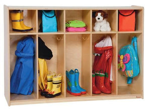 "Tip-Me-Not™, 5 Section Locker, 54"" W x 16"" D x 36"" H"
