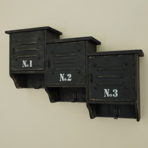 Numbered Coat Hook and Storage Shelves