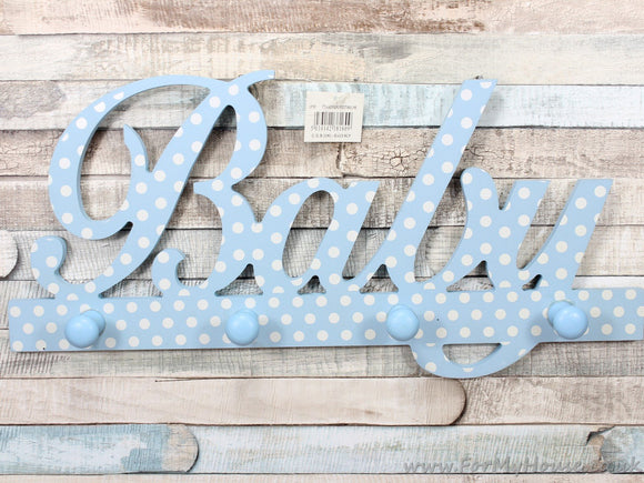 Baby blue nursery coat rack