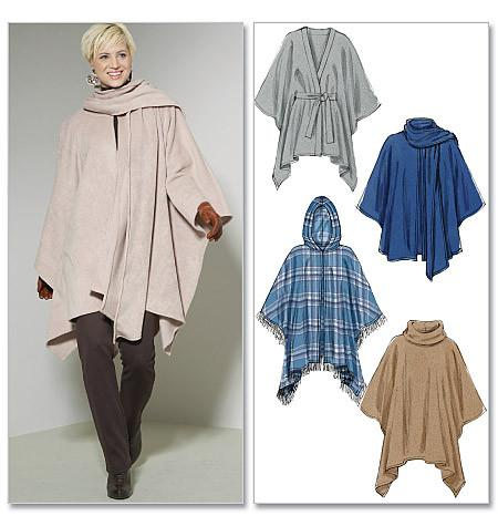 M6209 Misses' Ponchos & Belt