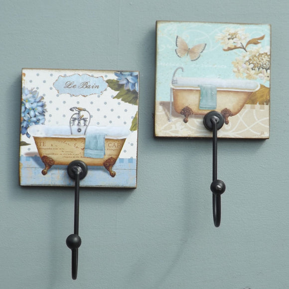 Vintage bath tubs pair of Coat Hooks