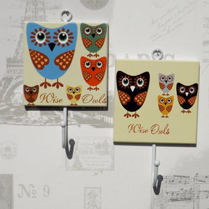 Pair of Wise Owls Coat Hooks