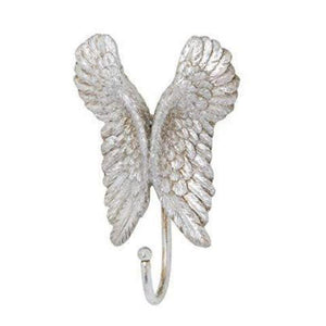 Antique Silver Angel's Wings Coat Hook