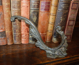 Antique French Cast Iron Large Coat Hook Hardware Shabby Chic